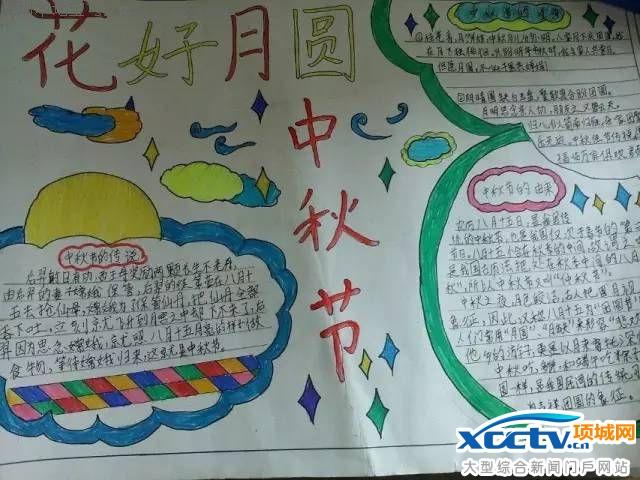 中秋节简单好看好画的手抄报(图)