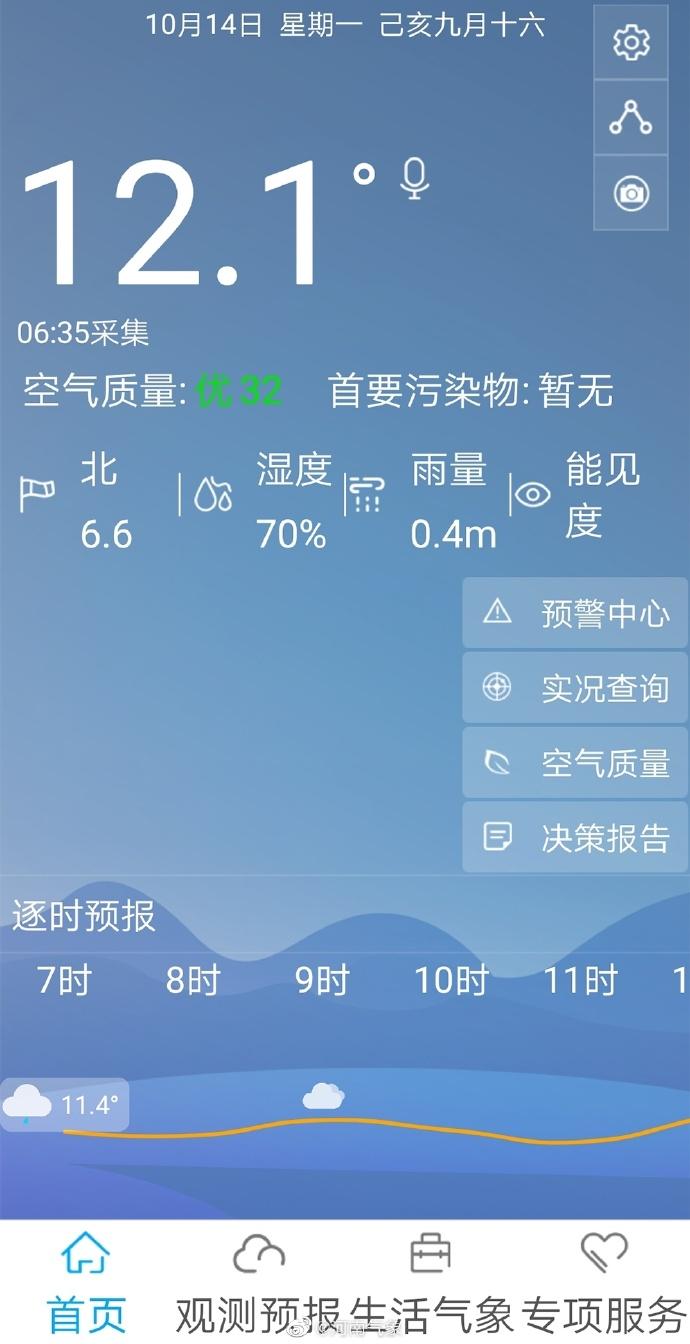 """河南新一轮冷空气即将""""到货"""" 最低气温7到9度"""