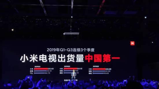 小米電視李肖爽:今年全年出貨量力