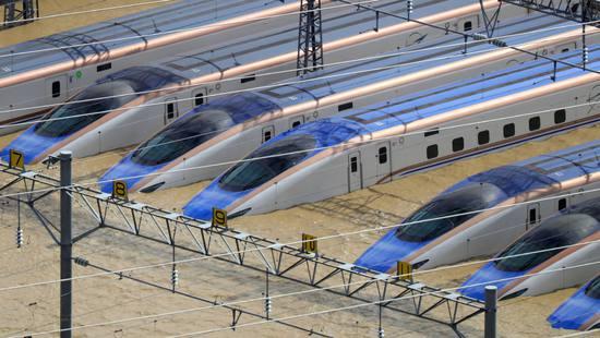 受台风影响 日本10列浸水新干线列车全部报废 损失9.5亿元