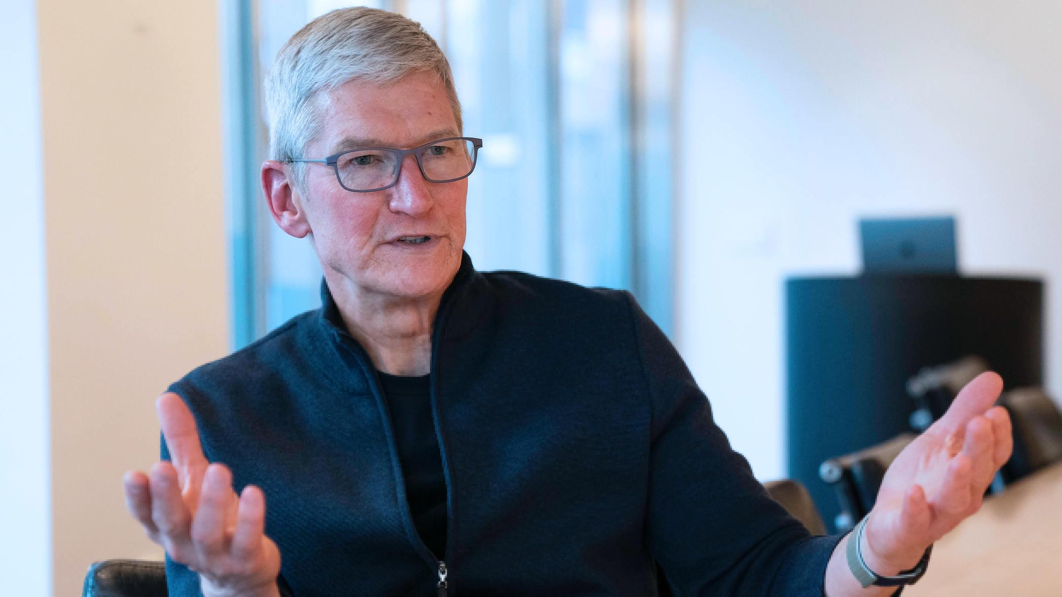库克否认垄断:苹果对手太多了 在手机上有华为三星