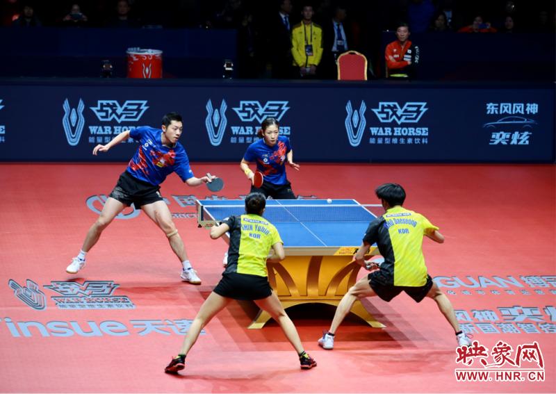 许昕、刘诗雯3比0战胜韩国组合 拿到东京奥运会混双资格