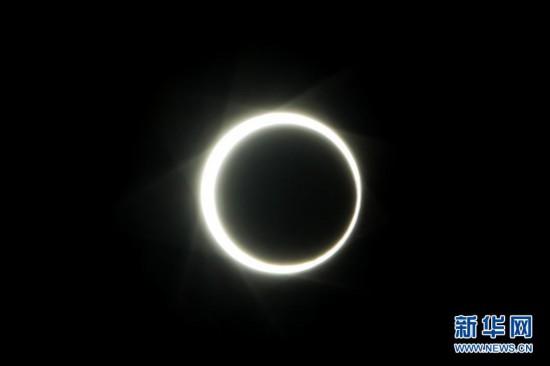本年度最后一次日食现身天宇 从中