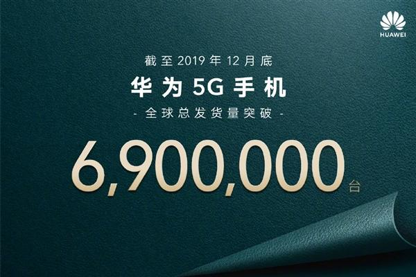 華為官宣:截至12月底 華為5G手機全球總發貨量突破690萬臺