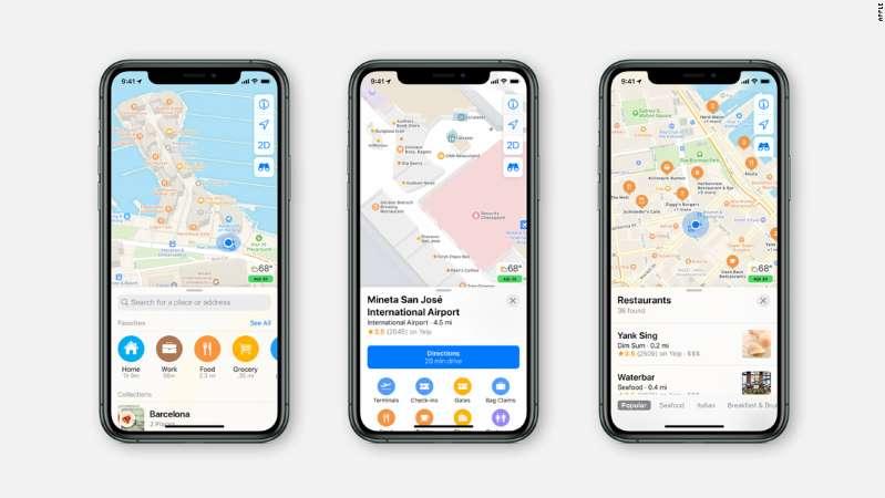 重新设计的苹果地图服务在美国各地推出 导航服务更准确