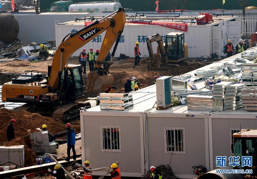 (聚焦疫情防控)(4)郑州市第一人民医院传染病医院即将建成交付