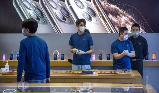 苹果无法完成季度销售目标:股价跌近2%