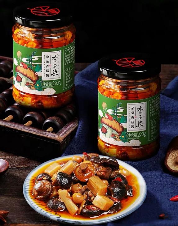 """李子柒品牌""""朵朵香菇酱""""被疑营养标签造假"""