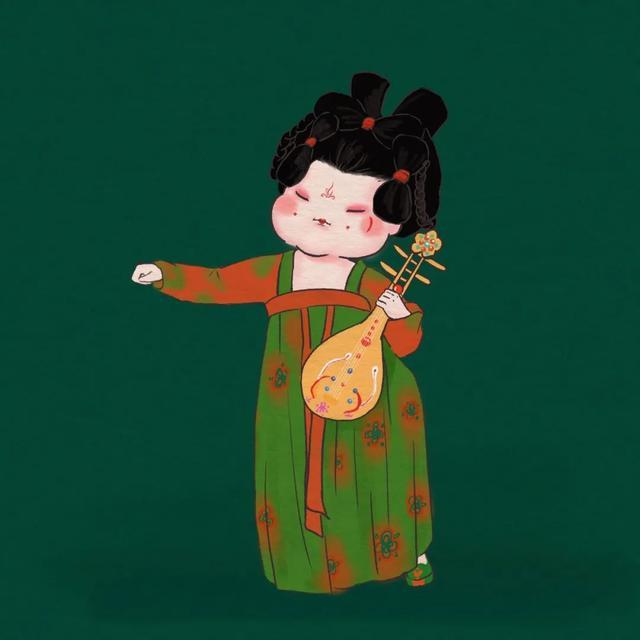 手绘版《唐宫夜宴》 每一幅都超超超超超超可爱