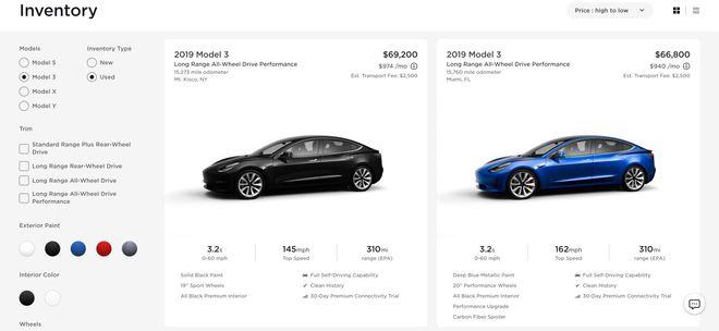 芯片短缺问题蔓延 二手Model 3成为美国最畅销车型