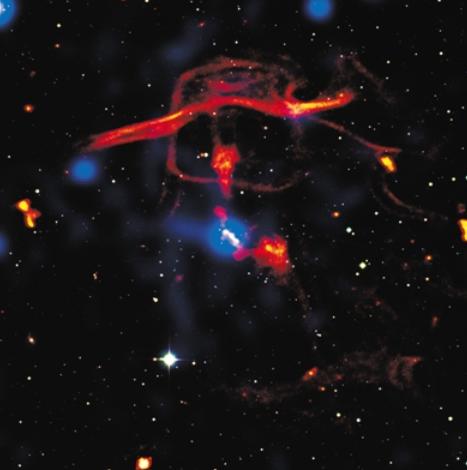 研究表明:活跃黑洞影响范围比宿主星系大100倍